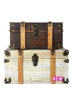set-of-2-antique-effect-storage-trunks