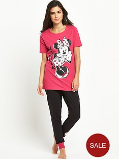 sorbet-minnie-mouse-cuffed-pyjama-leggings