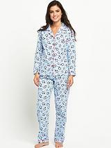 Flannel PJ Penguin Snowflake