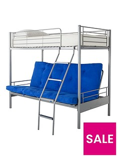 kidspace-montana-futon-bunk-bed-with-double-underbed-and-optional-mattress