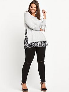 so-fabulous-print-chiffon-insert-jumper