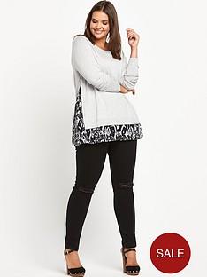 so-fabulous-print-chiffon-insert-jumper
