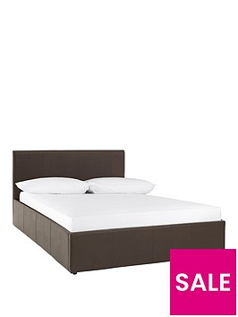 georgia-faux-leather-side-lift-up-storage-bed-frame-with-optional-mattress