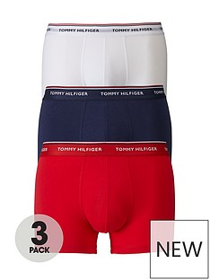 tommy-hilfiger-3-pack-premium-essentials-trunks-redwhitenavy