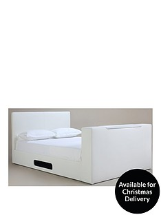 talbot-faux-leather-double-tv-bed-frame-with-mattress-options-buy-and-save