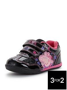 peppa-pig-young-girls-glitter-trainers