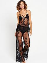 All Over Luxury Lace & Satin Cami PJ with Luxury Lace Pant