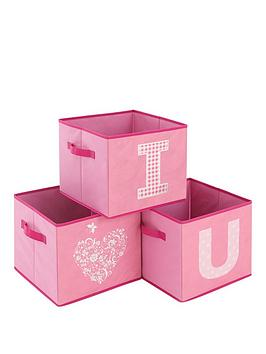 Photo of Kidspace ideal kids set of 3 i love you storage boxes
