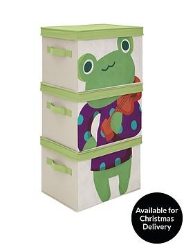 kidspace-ideal-kids-set-of-3-frog-storage-boxes