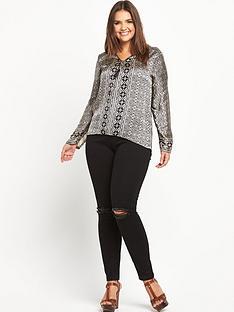 forever-unique-curve-layla-tassel-blouse