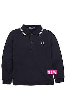 fred-perry-boys-long-sleeve-tipped-polo-shirt