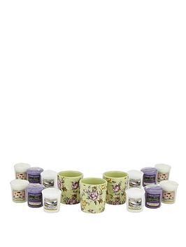 yankee-candle-3-vintage-floral-votive-holders-and-12-classic-votive-set