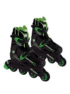 wired-wired-flash-adjustable-inline-skates-13-3-green