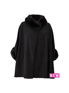 faux-fur-fleece-cape