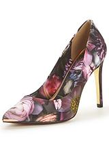 Neevo Shadow Floral Court Shoe