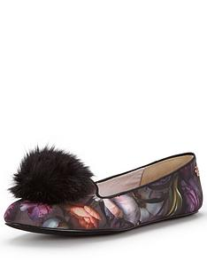 ted-baker-iveyed-pom-pom-floral-slipper