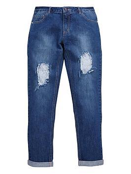 Freespirit Girls Lace Detail Boyfriend Jeans