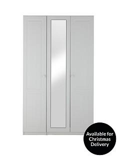 Calando 3-Door Mirrored Wardrobe