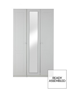 Calando 3 Door Mirrored Wardrobe