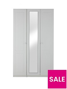 Calando 3-Door Mirrored Wardrobe