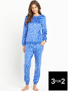 sorbet-star-fleece-twosie-pyjamas