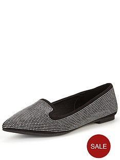 shoe-box-ola-point-point-pin-stud-flat-shoe-blacksilver