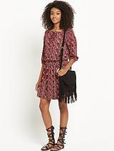 South Printed Boho Jersey Dress