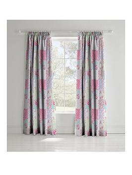 catherine-lansfield-gypsy-patchwork-lined-eyelet-curtains