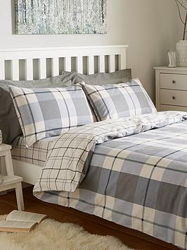 100-brushed-cotton-check-duvet-cover-set
