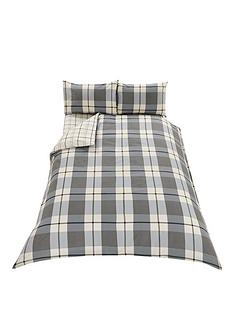 brushed-cotton-check-duvet-set-grey