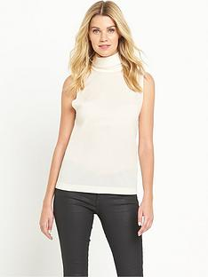 french-connection-sleeveless-roll-neck-top