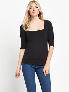 south-square-neck-34-sleeve-jersey-topnbsp