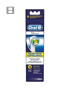 Oral-B White and Clean Pro Bright Brush Heads (4 pack)