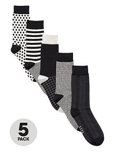 jack-jones-jack-ampamp-jones-5pk-monochrome-socks