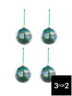 laurence-llewelyn-bowen-peacock-iridescent-crackle-baubles-ndash-set-of-4