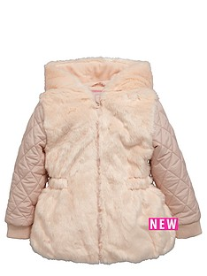 ladybird-girls-faux-fur-and-quilted-coat-with-3d-ears-to-hood