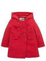 Girls Fashion Duffle Coat with Hood - 12 months - 7 years