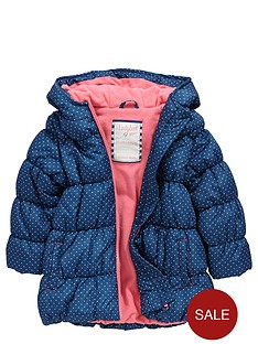 ladybird-girls-spot-padded-coat