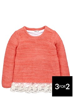 ladybird-toddler-girls-pretty-coral-knit-with-lace-trim-hem-amp-3d-bows-1-7-years