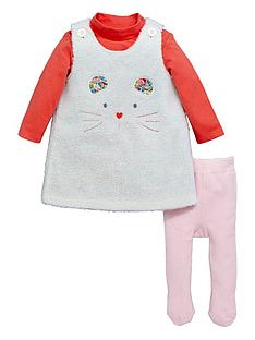 ladybird-baby-girls-animal-face-dress-with-t-shirt-amp-tights-3-piece