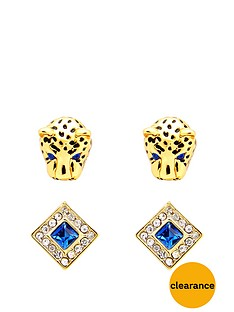 juicy-couture-set-of-2-leopard-and-square-gem-earrings