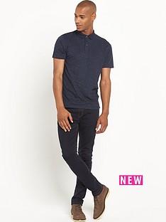goodsouls-contrast-collar-short-sleevenbsppolo-shirt