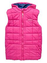 Girls Hooded Quilted Gilet