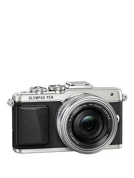 olympus-pen-e-pl7-camera-with-ed-14-42-mm-mzuiko-ez-pancake-lens-kit-silver