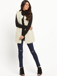 vero-moda-fuzzy-fake-fur-waistcoatnbsp