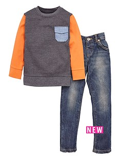 ladybird-boys-heavy-jersey-sweat-top-amp-jeans-set-2-piece-12-months-7-years