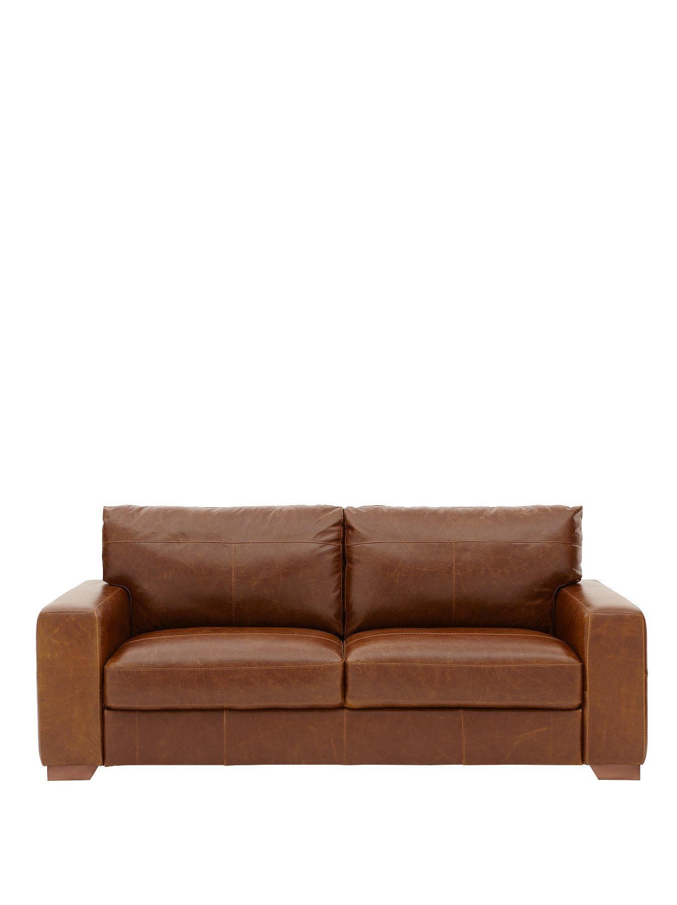 Huntington 3 Seater Italian Leather Sofa | Very.co.uk