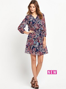 south-paisleyampnbspprinted-shirred-dressampnbsp