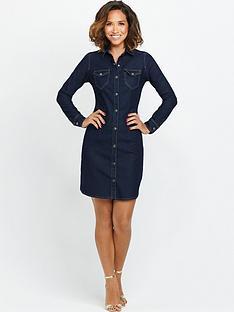 myleene-klass-fitted-denim-shirt-dress