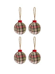 tartan-ball-christmas-tree-decorations-ndash-set-of-4
